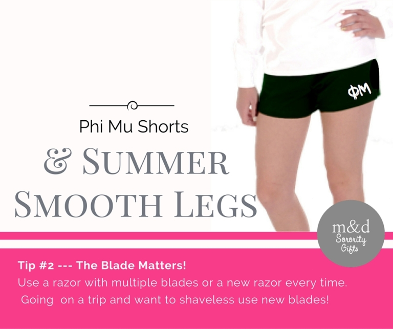 Phi Mu Shorts for Summer Tip 2