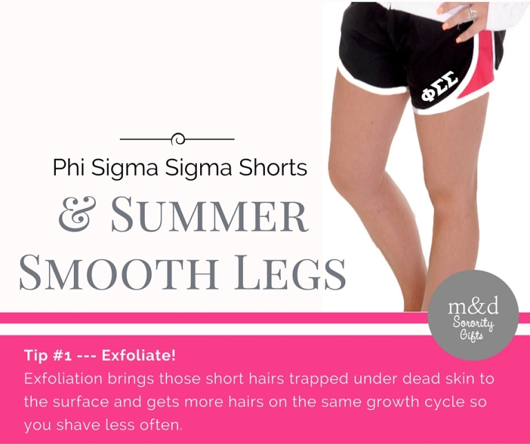 Phi Sigma Sigma Shorts for Summer Tip 1