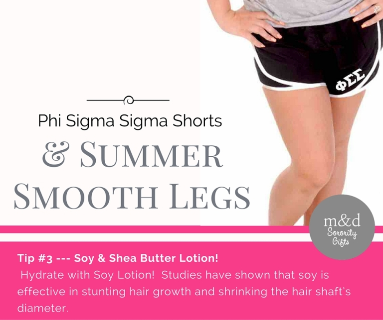 Phi Sigma SigmaShorts for Summer Tip 3