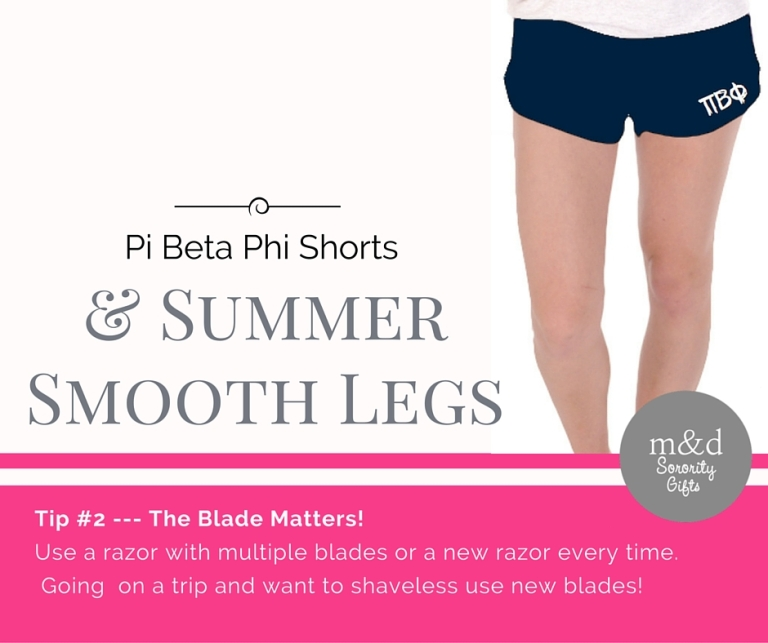 Pi Beta Phi Shorts for Summer Tip 2