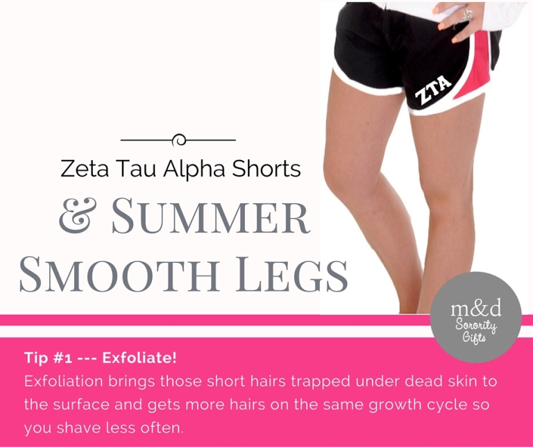 Zeta Tau Alpha Shorts for Summer Tip 1