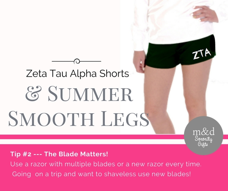 Zeta Tau Alpha Shorts for Summer Tip 2