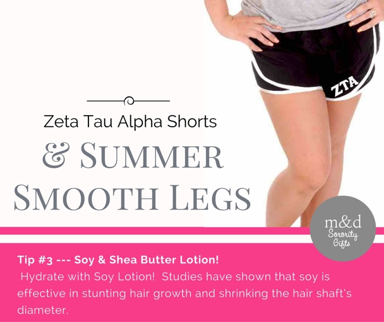 Zeta Tau AlphaShorts for Summer Tip 3